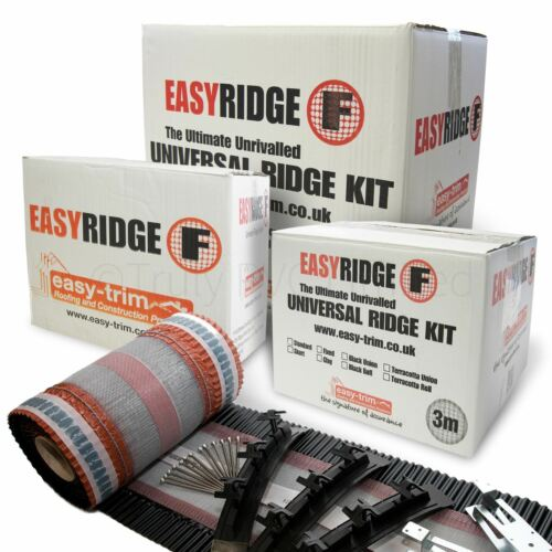 1Easy Ridge Universal Dry Fix Roof Kit Mortar Free Concrete Clay Tile System