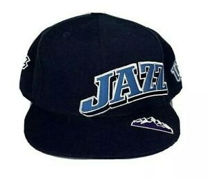 UTAH-JAZZ-NBA-Reebok-Elements-Mens-Blue-Fitted-Hat-Embroidered-Logo