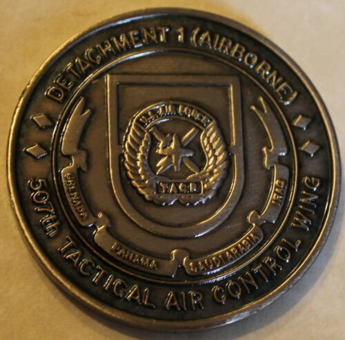 82nd Airborne 507th Tactical Air Control Wing Party TACP Challenge Coin Force