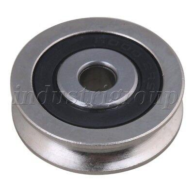 4xFlat 6x27x9mm 696ZZ Deep U Groove Guide Pulley Rail Ball Rolling Bearing Wheel