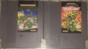 Teenage-Mutant-Ninja-Turtles-amp-II-The-Arcade-Game-NES-Game-Lot-Of-2