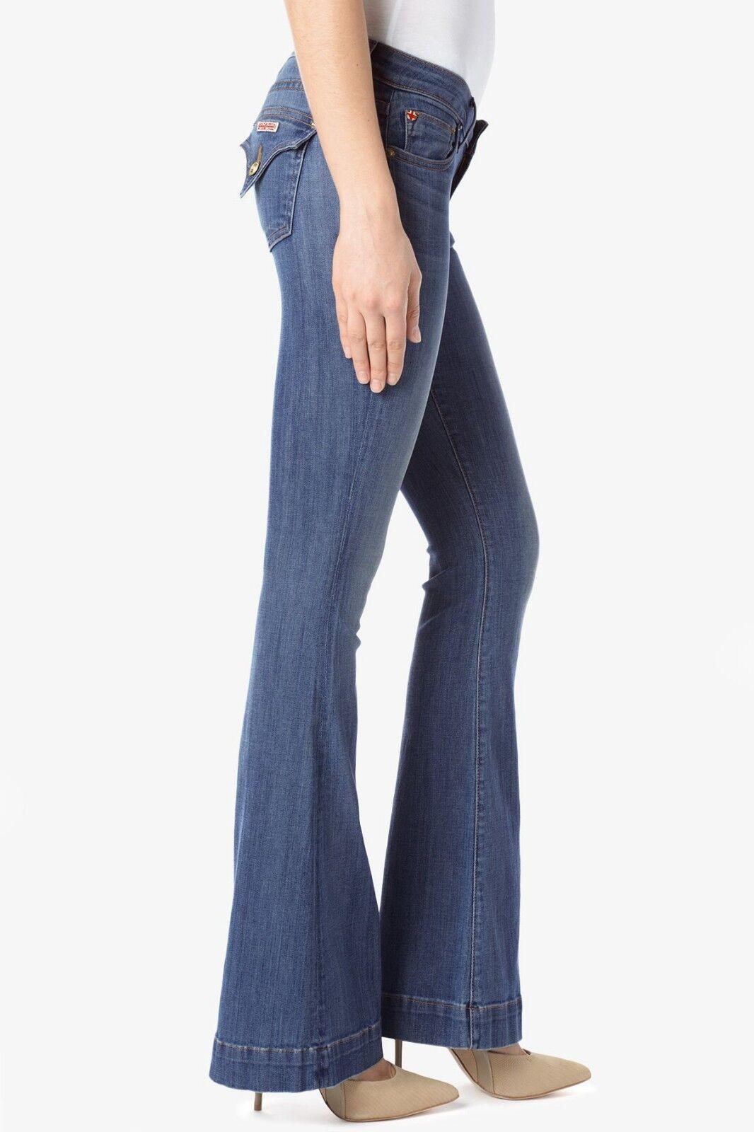 NWT HUDSON FERRIS Flare Jeans w  Trouser Hem 27 BRAND NEW W508DMS TRIBUTE