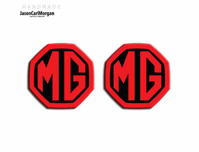 59mm//95mm JasonCarlMorgan MG ZR LE500 Style Black /& Silver Front and Rear Insert Badges MK2