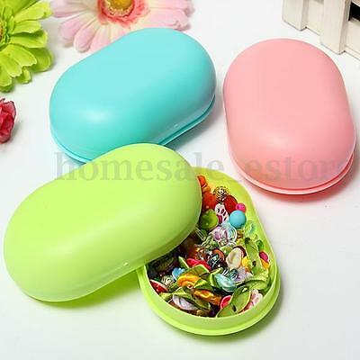 Soap Dish Box Case Holder Container Home Bathroom Shower Travel Outdoor Hiking