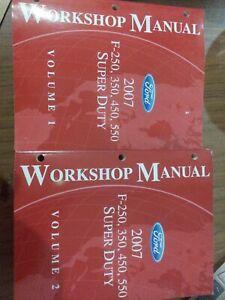 2007 Ford F 250 350 450 550 Super Duty Workshop Service Manuals