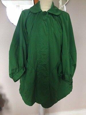 """""""french Connection 'splendido Verde Cotone 3/4 Lunghezza Giacca/mac-taglia 10-mostra Il Titolo Originale"""
