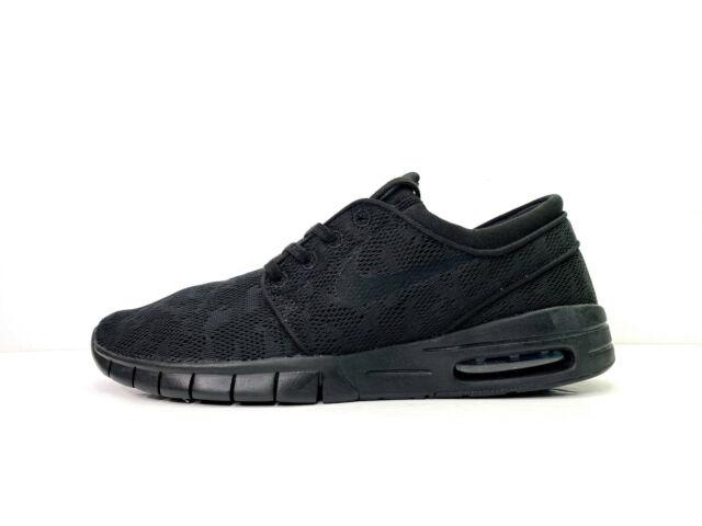 nike sb stefan janoski max leather black
