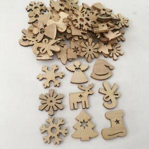 50pcs-Wooden-Christmas-Hanging-Pendants-Wood-Tree-Ornament-Xmas-Home-Party-Decor