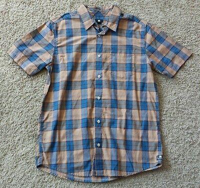 DC Button Down Shirt size medium M - plaid/blue/yellow