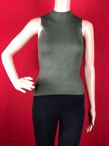 457d4d2025e869 Bar III Womens Ribbed Knit Sleeveless Mock Neck Tank Top Shirt True ...
