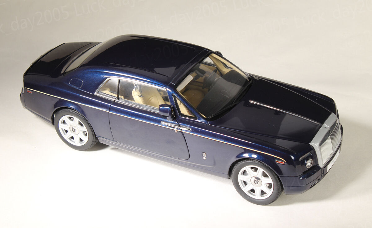 Kyosho Diecast Rolls-Royce Phantom Coupe  color azul pavo real