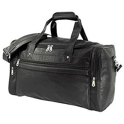 """GP 21"""" in Koskin Faux Leather Dual Sport Travel Black Carry-On Runner Duffel Bag"""