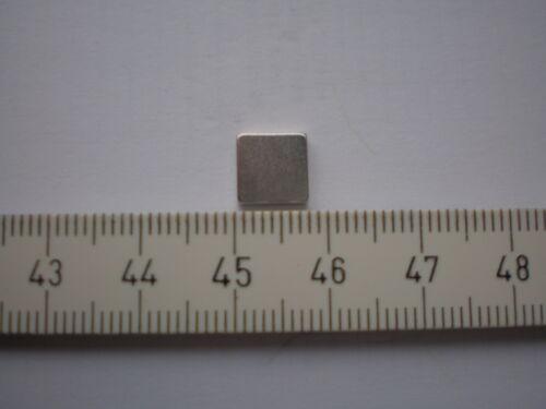 E18 / 10 Quardermagnete starke Magnete 8 x 8 x  2 mm