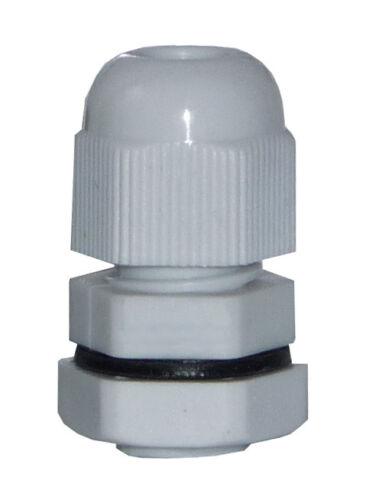 jspg 9kvs-g-100 Cable pg9 unión roscada con contra madre plástico gris 100 unid