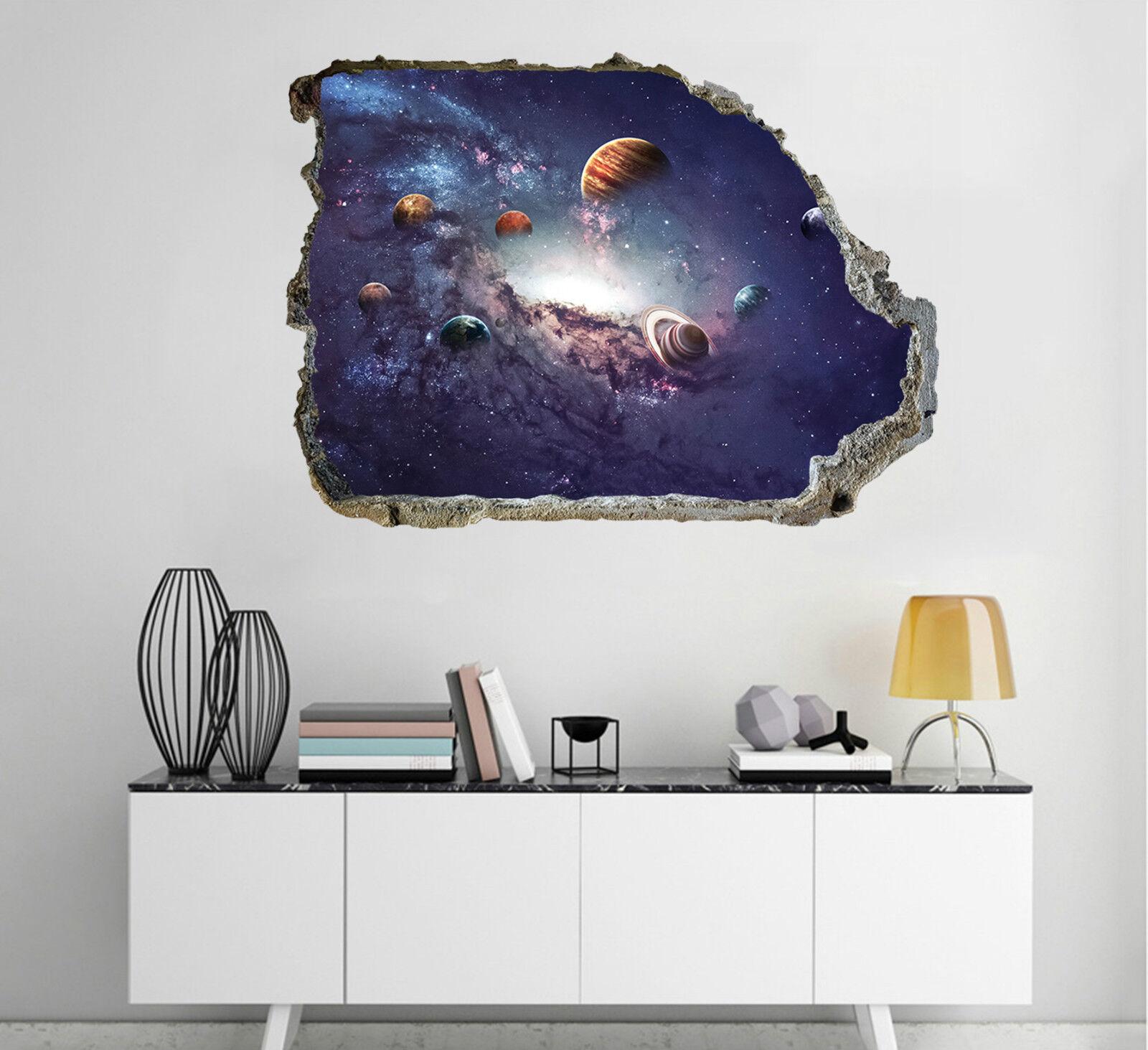 3D Stern Planet 53  Mauer Murals Aufklebe Decal Durchbruch AJ WALLPAPER DE Lemon