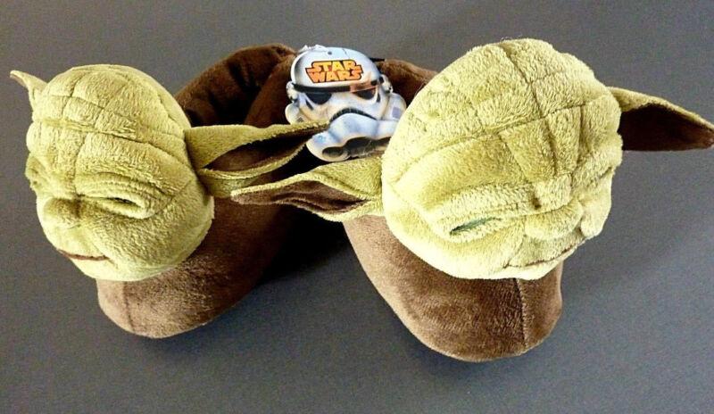 Haben Sie Einen Fragenden Verstand Disney Star Wars Yoda Plüsch Tier Hausschuhe Pantoffeln Slipper Abs Grün Gr. 39