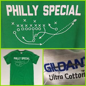 the latest bf59b ca618 Details about Men's Philadelphia Eagles NICK FOLES Super Bowl LII PHILLY  SPECIAL Green T-Shirt