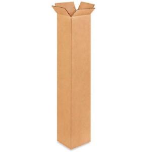 Details About 25 4x4x24 Karton Papier Schachteln Post Packung Kiste Gewellt Karton
