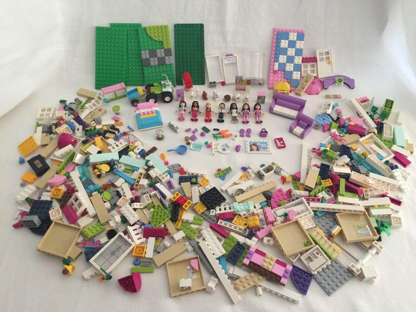 Lote de 1000+ piezas de construcción Lego FRIENDS Figuras Mascotas Olivia