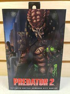NECA Predator 2 Ultimate Battle Damaged City Hunter Action Figure AF NEW