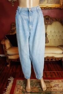 7b5cbd4d SASSON Vtg High Waisted Mom Blue Jeans Tapered Ankles Womens Sz 12 ...