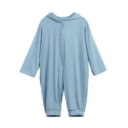 UK Newborn Baby Boy Girls Romper Velvet Hooded Jumpsuit Bodysuit Outfits Clothes