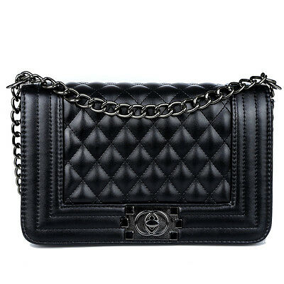 New women Classic Women's Quilted PU Leather Chain Purse Shoulder Bag
