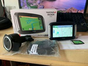 Tom Tom Rider 400 Motorbike SatNav, Lifetime Europe Maps and Speed Camera