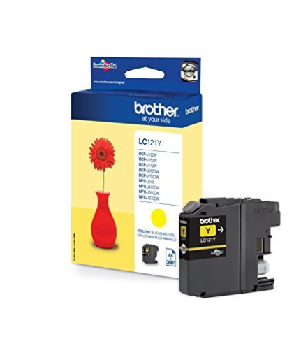 Brother LC121Y InkCartridge Yellow NEW