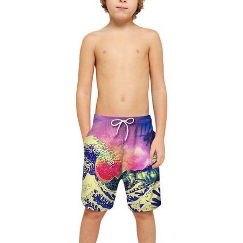 Family Mens Boys Kids 3D Printed Swimming Shorts Swim Trunks BeachHoliday Pants