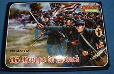STRELETS Set 150 - US UNION TROOPS IN ATTACK - ACW - 1/72 SCALE
