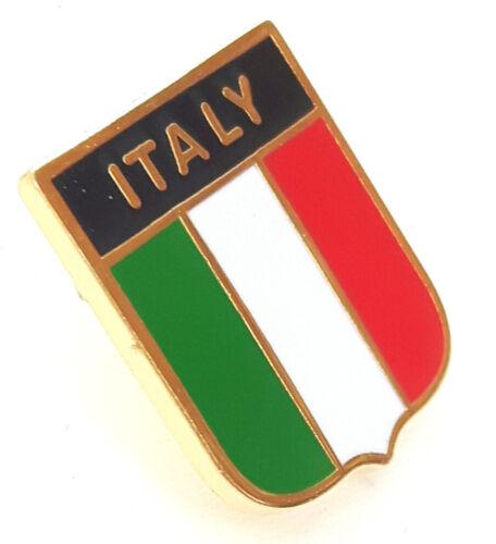 Italien-Flagge Emaille Reversnadel Abzeichen T975