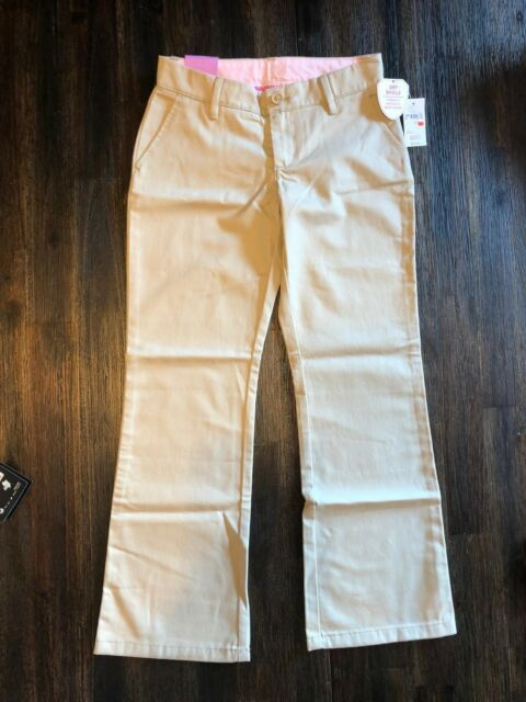 de643539552aa3 NWT GAP KIDS CLASSIC CHINO GIRLS 7 UNIFORM KHAKI TAN PANTS RELAXED STRAIGHT  FIT