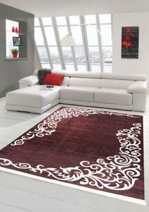 Teppich Floral Designerteppich Wohnzimmerteppich Waschbar In