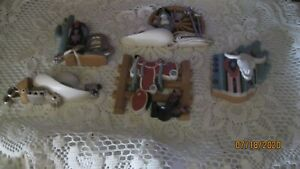 Set-of-5-Vintage-Home-Interiors-amp-Gifts-SOUTHWEST-Wall-Hanging-Plaques-Western