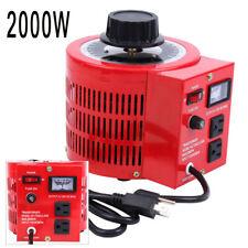 2000w 20amp Ac 0 130v Output Auto Variable Transformer Voltage Regulator Tool