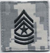 ACU US Army E-9 E9 SGM Sergeant Major Rank Insignia Hook Fastener Patch