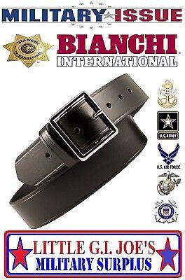1-3//4 W Black 38 Garrison Belt Removable Buckle