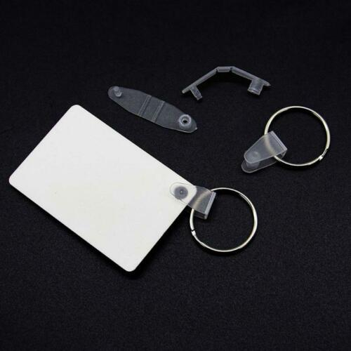 30Pcs  Sublimation Heat Transfer Wood Blank Rectangle MDF Keychains Jewelry DIY
