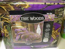 Camo Purple Woods-Twin Size 3 Pc 800 TC,Deep Pocket.Sheet Set In Bag- Free To US