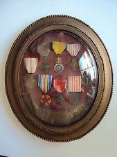 Cadre souvenir d'un Poilu: La Marne, Verdun....8 décorations.