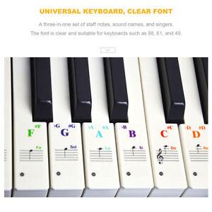 Transparent-Musical-Tools-Piano-49-61-76-88-keys-Note-Keyboard-Sticker-Decals-AZ