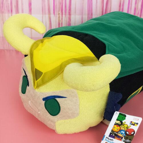 Marvel The Avengers Loki Thor Doll Pillow Puppet Cover Plush Core Gift Bolster N