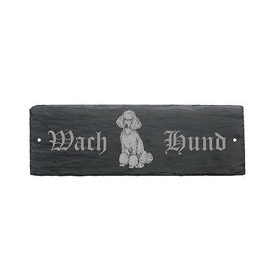 Herzhaft Wetterfestes Schild « Wachhund Pudel Sitzend » Hund 22 X 8 Cm Lassen Sie Unsere Waren In Die Welt Gehen