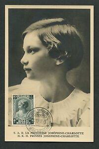 HonnêTe Belgique Mk 1937 Princesse Princesse Maximum Carte Carte Maximum Card Mc Cm D7102 Longue DuréE De Vie