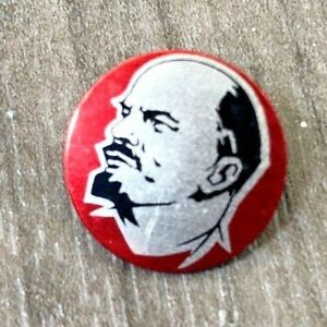 AUTHENTIC-VINTAGE-USSR-SOVIET-RUSSIAN-PIONEER-LENIN-COMMUNIST-TIN-PIN-BADGE-1970