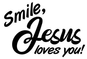 Smile Jesus loves you! Decal, Vinyl, Bumper Sticker Decal for Car ...