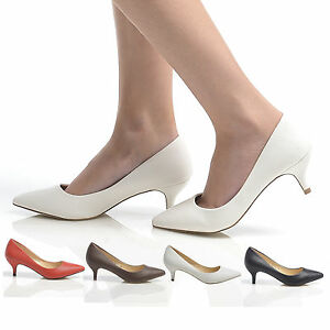 LADIES-LOW-HEEL-COURT-SHOES-POINTED-PUMP-SHOES-WOMENS-CASUAL-OFFICE