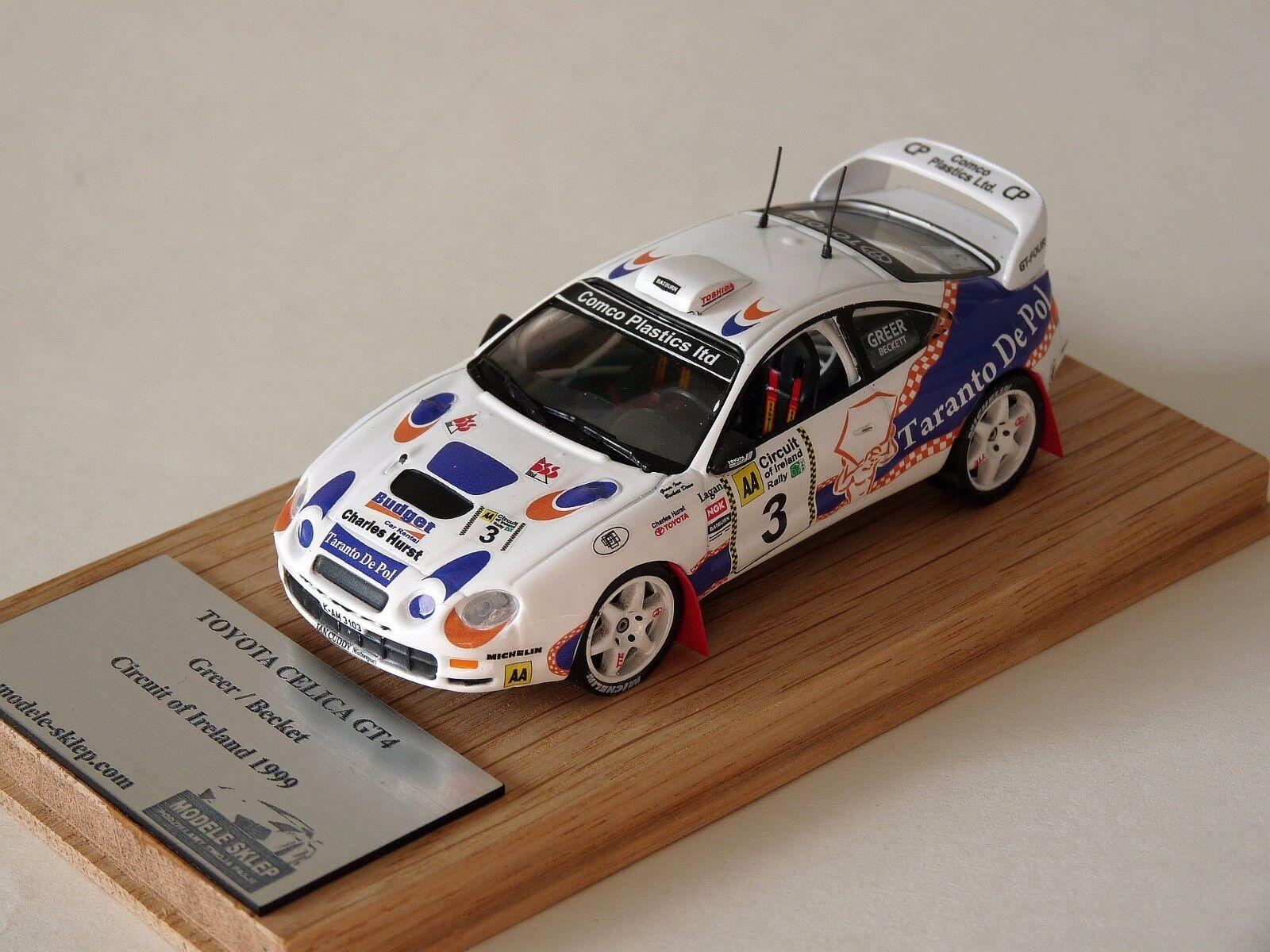 Ian Greer Becket Circuito de Irlanda 1999 Jugueteota Celica GT4 1 43 Modelo Raro