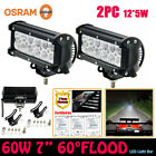"""OSRAM 7""""INCH 60W LED LIGHT BAR FLOOD OFFROAD DRIVING LAMP 4WD JEEP CAR TRUCK"""